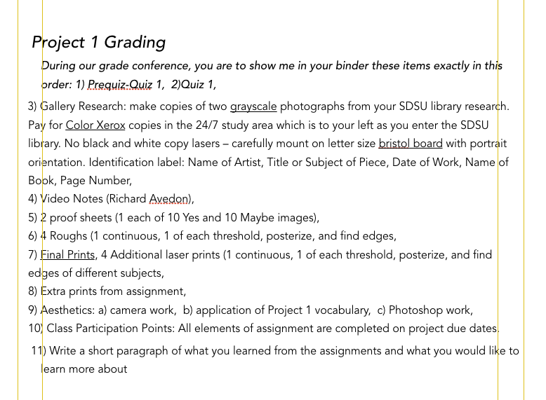 Project 1 Grading_Fall 2019