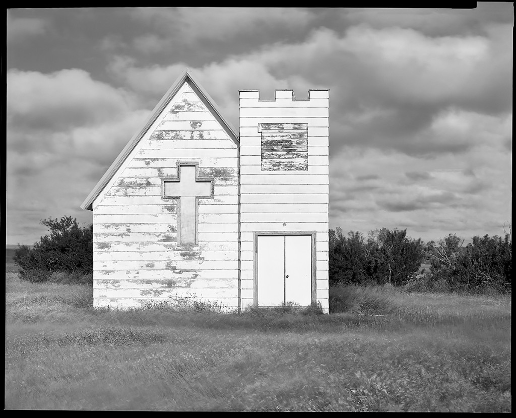 Church With Battlements, Along Route 13, North Of Circle, Montana